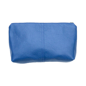 leather touring pouch: azure