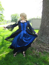 Load image into Gallery viewer, Victorian Ball Gown in Blue