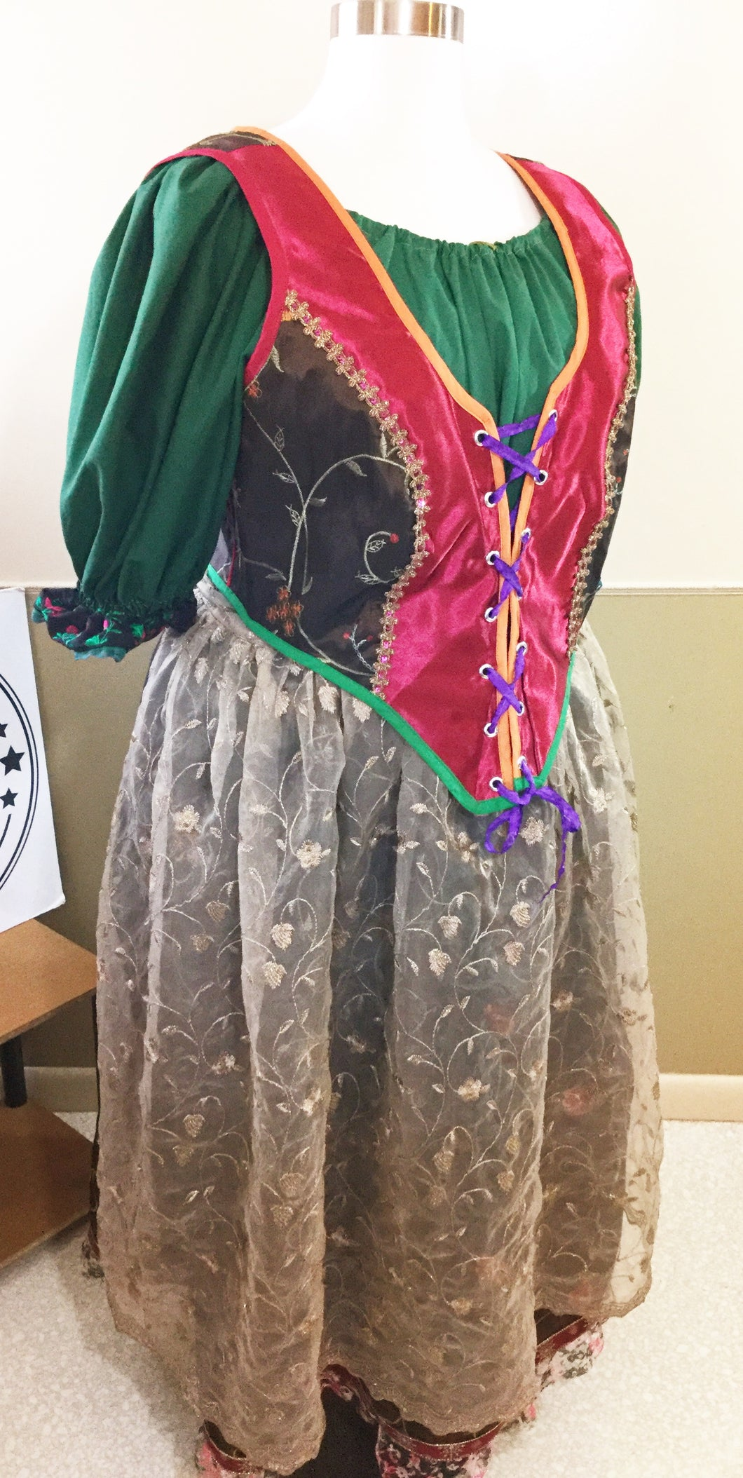 Mrs. Claus Christmas German Inspired Dirndl Costume