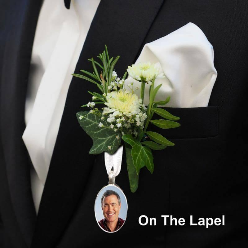 groom's button hole memory charm