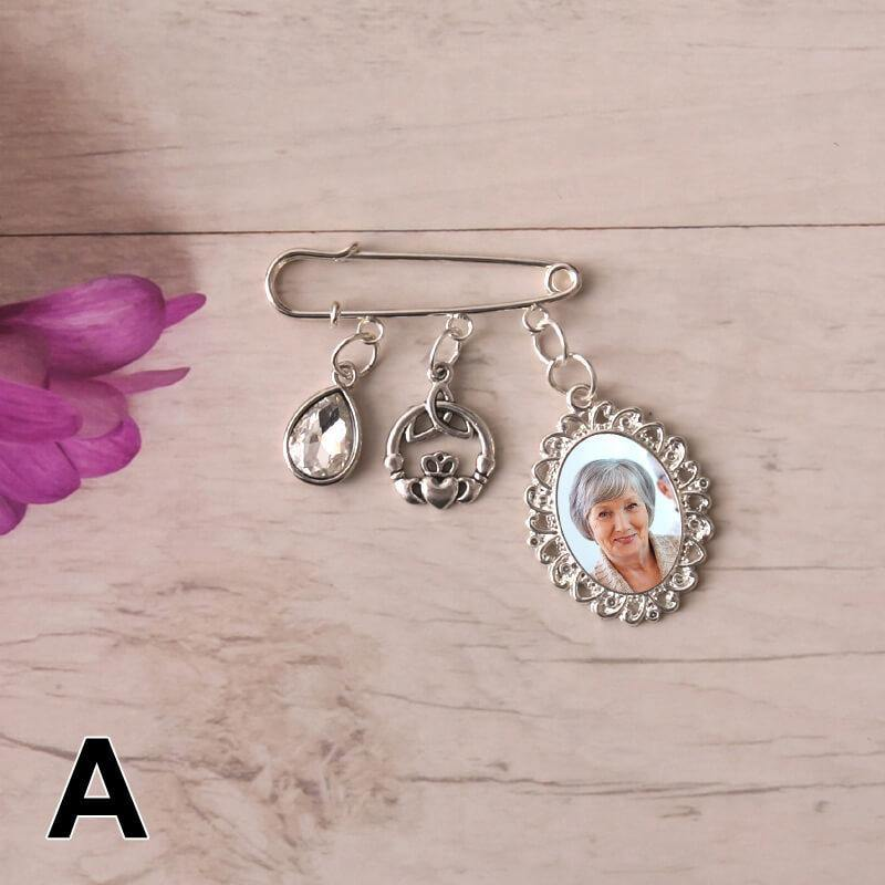 picture charms for wedding bouquets