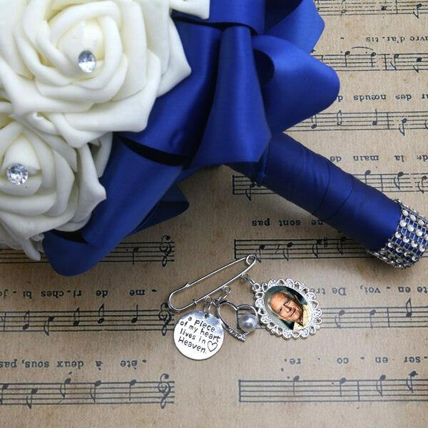 walk with me dad wedding bouquet charm