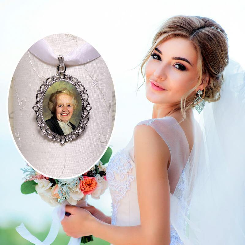 bridal bouquet photo charm
