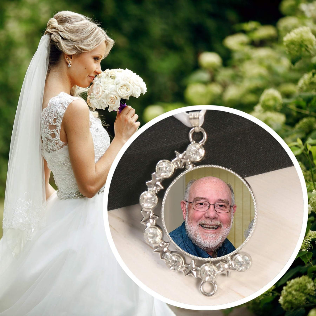 dad memorial wedding bouquet charm