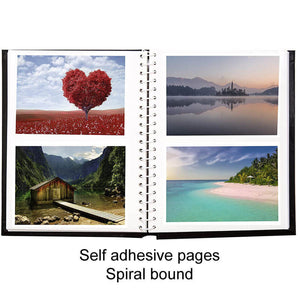 spiral bound self adhesive pages