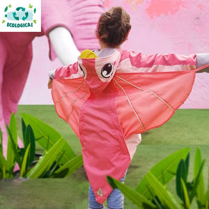 Kids Pink Owl Raincoat ECO Jacket - Water Resistant (Special Edition)