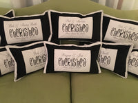 Personalized Embroidered Pillow to Celebrate Wedding, Engagement, Birth, Anniversary, Special Event