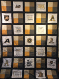 West Point Old School Army A with Mule- Quilt Block - For Quilts or Decorator Pillows
