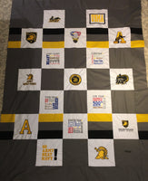 West Point Army A - Quilt Block - For Quilts or Decorator Pillows