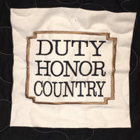 West Point Duty Honor Country - Quilt Block - For Quilts or Decorator Pillows