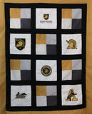 West Point Throw Quilt - Handmade Embroidered - All American Made Fabrics