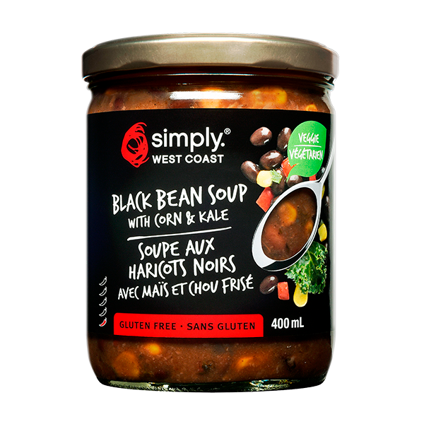 Black Bean Soup (6 jars per case) - Simply West Coast