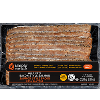 Wild Keta Bacon Style Salmon (8 x 250g per box) - Simply West Coast