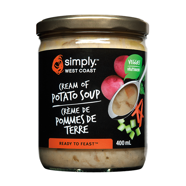 Cream of Potato Soup (6 jars per case) - Simply West Coast