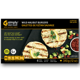 Wild Halibut Burgers (12 x 340g per box) - Simply West Coast