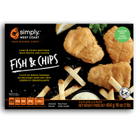 Wild Pacific Fish & Chips (8 x 454g per box) - Simply West Coast