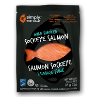 Wild Smoked Sockeye Salmon (15 x 85g per box) - Simply West Coast