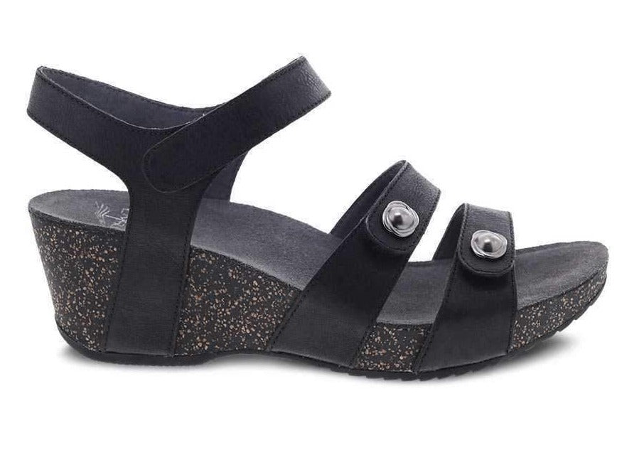 Dansko Savannah Wedge Sandal Black