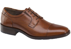 Johnston and Murphy Lancaster Cap Toe Tan Leather