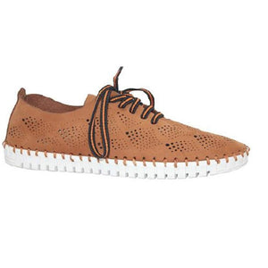 Eric Michael Annie Lace Up Sneaker Tan Nubuck