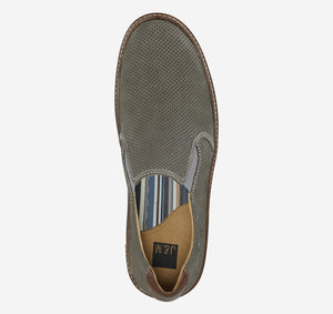 Johnston and Murphy McGuffey Perforated Slip-on Grey Nubuck