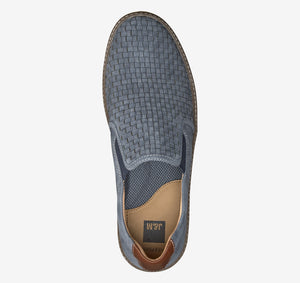 Johnston and Murphy McGuffey Woven Slip-On Denim Tumbled Nubuck