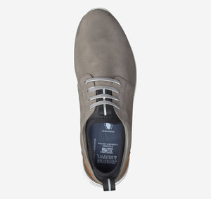 Johnston and Murphy Prentiss Plain Toe Gray Waterproof Nubuck