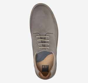 Johnston and Murphy McGuffey Plain Toe Gray Oiled Leather