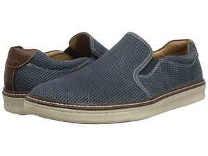 Johnston and Murphy McGuffey Perforated Slip-on Navy Nubuck