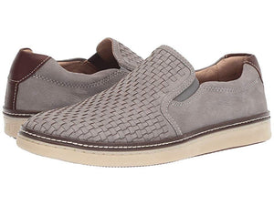 Johnston and Murphy McGuffey Woven Slip-On Gray Tumbled Nubuck