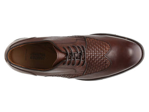 Johnston and Murphy Carlson Woven Wingtip Oak Calfskin