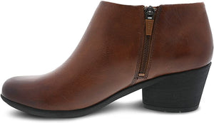 Dansko Raina Ankle Bootie Chestnut Burnished Calf