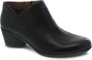 Dansko Raina Ankle Bootie Black Burnished Nubuck