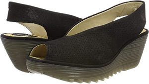 Fly London YAZU Wedge Black