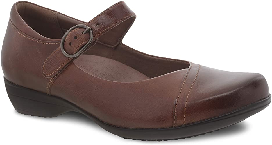 Dansko Fawna Mary Jane Chestnut Burnished Calf