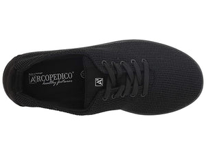 Arcopedico Net 3 Lace Up Walking Shoe, Black