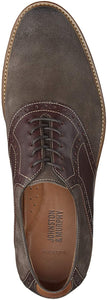 Johnston and Murphy Warner Saddle Dark Gray Suede/Mahogany Leather