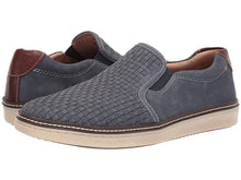 Load image into Gallery viewer, Johnston and Murphy McGuffey Woven Slip-On Denim Tumbled Nubuck