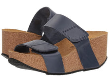 Load image into Gallery viewer, Eric Michael Lily Wedge Sandal Navy