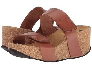 Eric Michael Lily Wedge Sandal Brown Brown