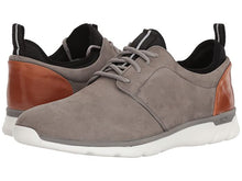 Load image into Gallery viewer, Johnston and Murphy Prentiss Plain Toe Gray Waterproof Nubuck