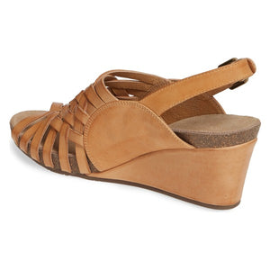 Chocolat Blu Eliana Wedge Heel Camel Leather
