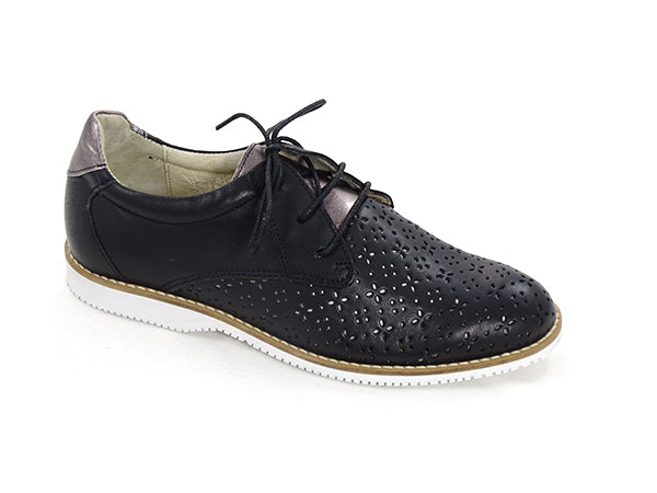 Eric Michael Carolina Fashion Oxford Black/Soft Metal