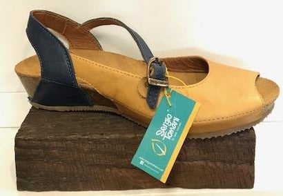 Sergio Tomani  Donna  Mary Jane Leather, Leather Yellow, Blue