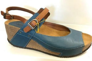 Sergio Tomani  Jazmin Wedge/ Mary Jane Navy Mist & Tobacco
