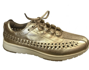 Chocolat Blu Bella Fashion Sneaker Light Gold