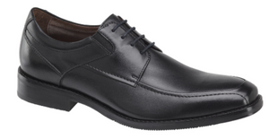 Johnston and Murphy Bartlett Cap Toe Black Full Grain Leather