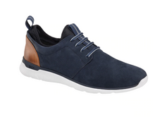Load image into Gallery viewer, Johnston and Murphy Prentiss Plain Toe Navy Waterproof Nubuck