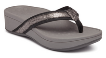 Load image into Gallery viewer, Vionic Pacific High Tide Foil Sandal Gunmetal