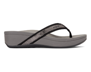 Vionic Pacific High Tide Foil Sandal Gunmetal